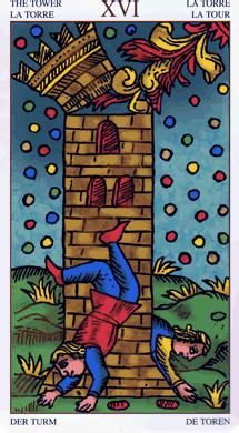 La maison Dieu, carte du tarot de Marseile