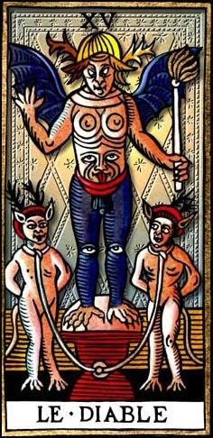 Carte Tarot Diable.Le Diable Carte Du Tarot Tarot Divinatoire